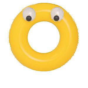 Надувной круг Bestway 36119 «Глазастики», 91 см, желтый, (Оригинал)