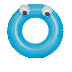 Надувной круг Bestway 36119 «Глазастики», 91 см, голубой, (Оригинал)