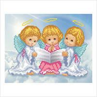 """Схема для вышивки бисером """"Трио ангелочков"""""""