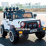 Детский электромобиль на аккумуляторе джип Jeep T-7833 с пультом радиоуправления для детей 3-8 лет красный, фото 3