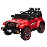 Детский электромобиль на аккумуляторе джип Jeep T-7833 с пультом радиоуправления для детей 3-8 лет красный, фото 7