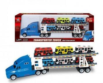 Трейлер інер-ий з машинами,у кор-ці,43х7х14,5см,3 віді №666-33J/35J/36J КІ