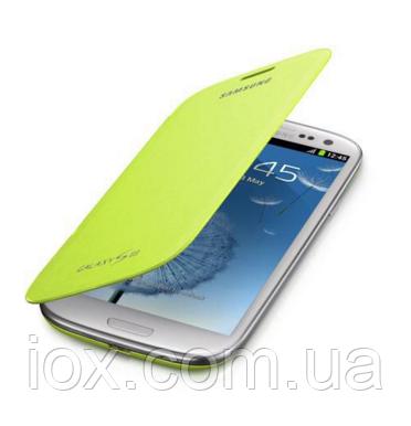 Зеленый чехол-флип для Samsung Galaxy S3 и S3 duos