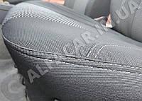 Чехлы на сиденья VOLVO  FH EVRO 3 1+1 2002- (высокая спинка с вырезами под подлокотники) Чехлы Вольво