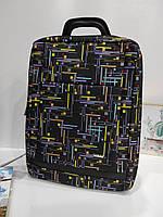 Міський рюкзак з геометричним дизайном Dolly 390 для підлітка 30x40x16 см