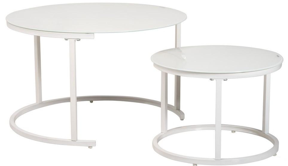 Комплект журнальних столів Vetro Mebel CS-25 білий