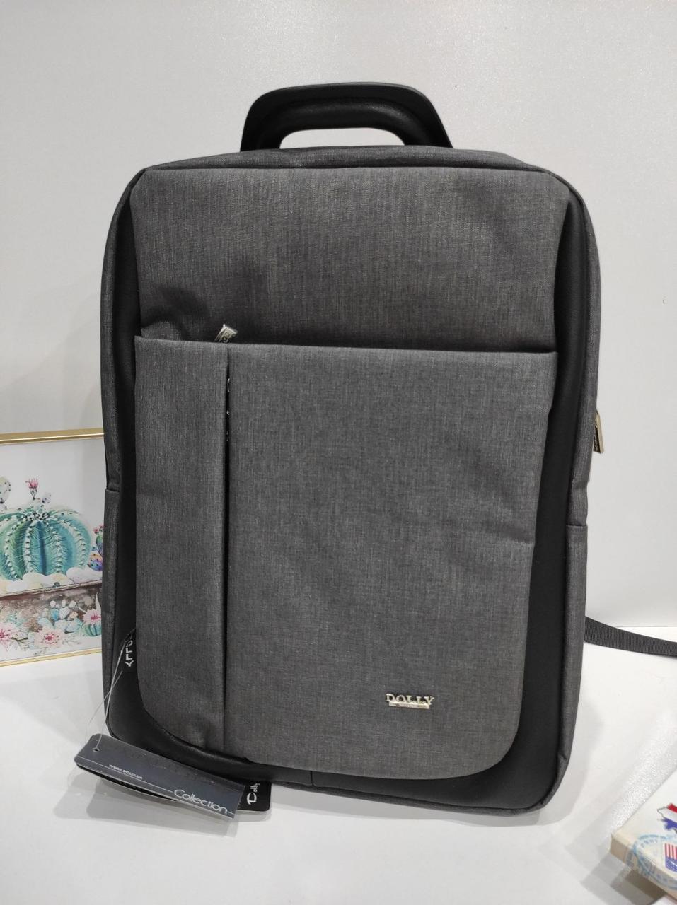 Класичний однотонний рюкзак Dolly 391 30х40х16 см