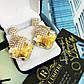 """Ошатні сережки """"Аліко"""" шампанського кольору., фото 3"""