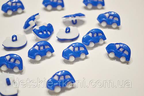 Пуговицы в виде машинок синего цвета П-004
