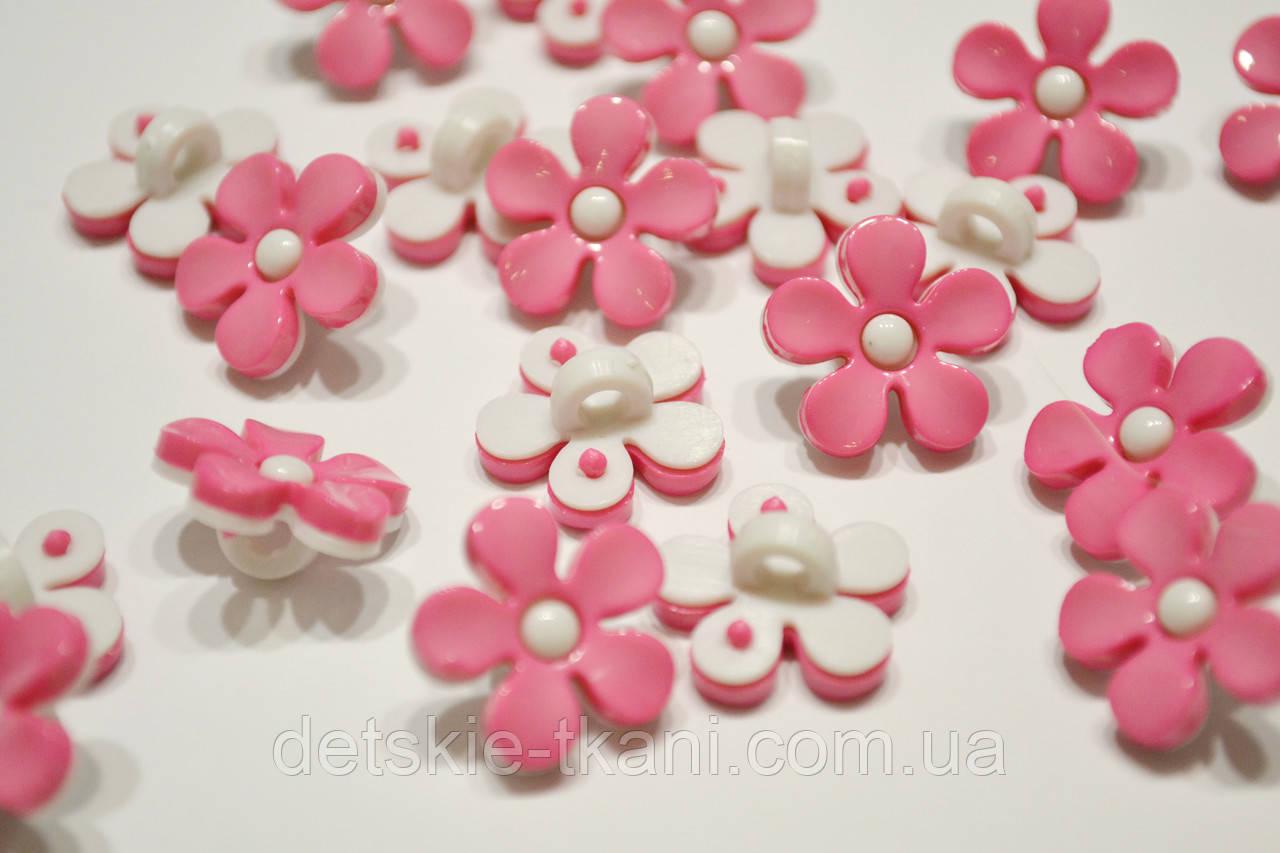"""Пуговицы """"розовый цветочек с узкими лепестками"""" П-001"""