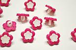 """Пуговицы """"розовые цветочки с белой серединкой"""" П-012, фото 2"""