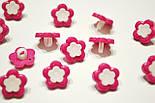 """Пуговицы """"розовые цветочки с белой серединкой"""" П-012, фото 3"""