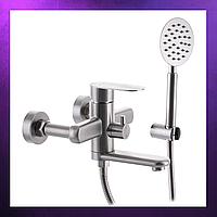 Душевая система Смеситель Кран для ванны с душем и лейкой из нержавеющей стали MIXXUS (нерж. сталь SUS 304)