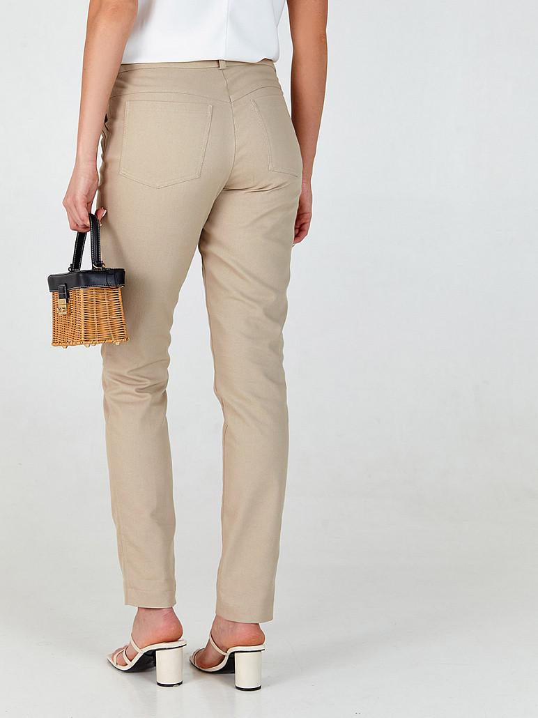 Штани прямі джинсові в жовтому кольорі SOLH MKSH2642