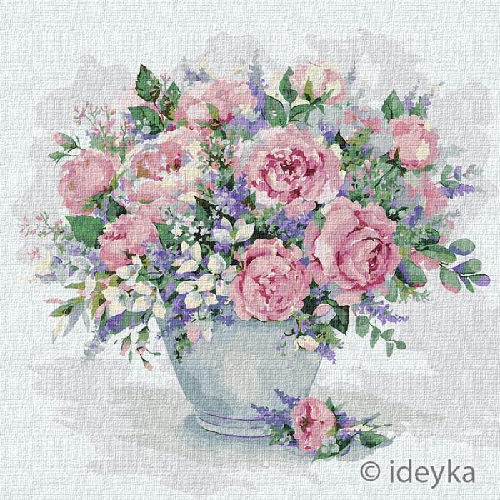 Картина по номерам Волшебный аромат роз Елена Вавилина  Идейка 50 х 50 КНО2976