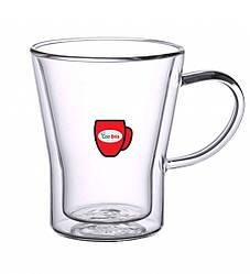 Набір чашок з подвійними стінками Con Brio CB-8535 6 шт | скляні стакани Con Brio