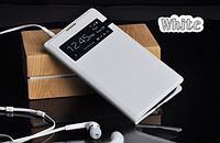 Белый чехол флип для Samsung Galaxy S4 i9500