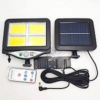 Вуличний ліхтар на сонячній батареї з пультом UKC BK-128-4COB