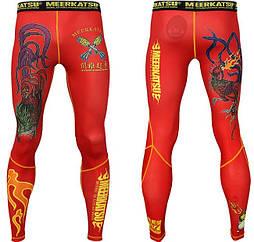 Компрессионные штаны MEERKATSU   Fire Rooster Spats
