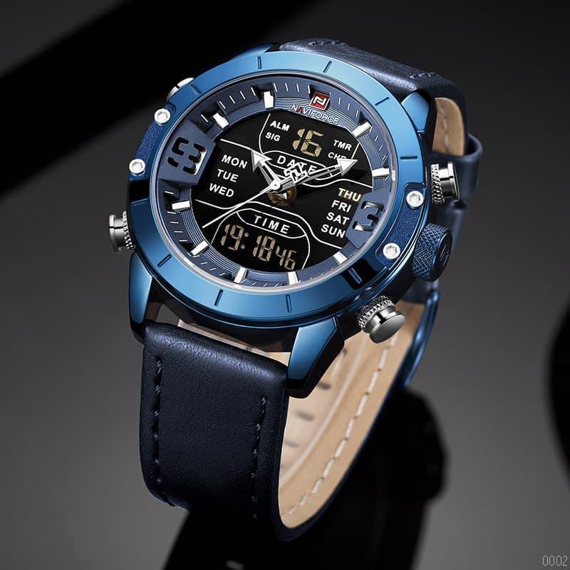 Часы наручные мужские Naviforce NF9153L Blue-Black синие