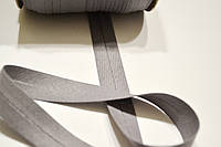 Косая бейка из хлопка серого цвета 18 мм.