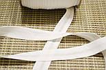 Косая бейка из хлопка белого цвета 18 мм., фото 2