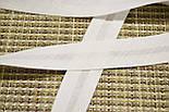 Косая бейка из хлопка белого цвета 18 мм., фото 3