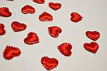 Декор сердечки маленькие красного цвета., фото 2