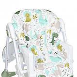 Универсальный стульчик для кормления на колесах, пластиковый Bambi M 3233 Dino Pine Green, зеленый, фото 6