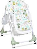 Универсальный стульчик для кормления на колесах, пластиковый Bambi M 3233 Dino Pine Green, зеленый, фото 4