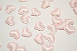 Декор сердечки маленькие розового цвета., фото 2