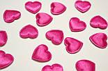 Декор сердечки средние, цвет амарантовый., фото 2