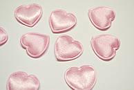 Декор сердечки средние, цвет розовый.