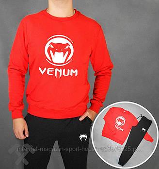 Мужской спортивный костюм Венум (Venum) реглан и штаны (на любой сезон), реплика черный
