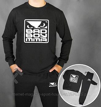 Мужской спортивный костюм Бед бой (Bad Boy) реглан и штаны (на любой сезон), реплика черный