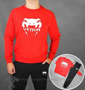 Мужской спортивный костюм Венум (Venum) реглан и штаны (на любой сезон), реплика красный