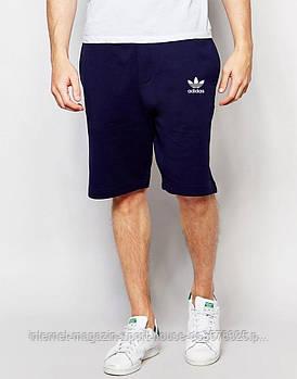 Мужские летние спортивные шорты Адидас (Adidas), отличного качества, реплика синие
