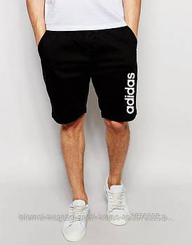 Мужские летние спортивные шорты Адидас (Adidas), отличного качества, реплика черные