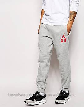 Спортивні штани Jordan, Джордан, чоловічі, трикотажні, весна/осінь, сірого кольору, копія