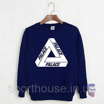 Спортивна кофта Palace, Паласі, світшот, трикотаж, чоловічий, синього кольору, копія