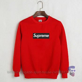 Спортивна кофта Supreme, Супреме, світшот, трикотаж, чоловічий, червоного кольору, копія