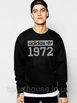 Спортивна кофта Adidas, Адідас, світшот адідас, трикотаж, чоловічий, чорного кольору, копія
