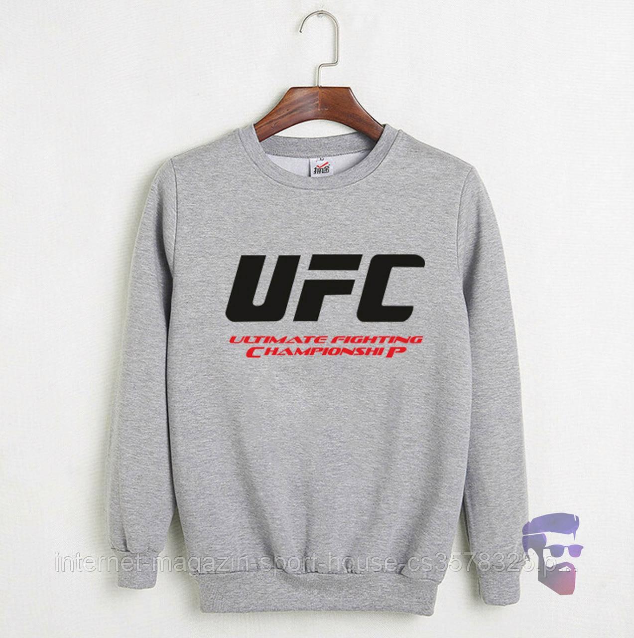 Мужской реглан спортивный ЮФС (UFC), трикотажный (на любой сезон), реплика