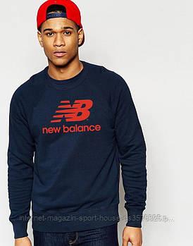 Спортивна кофта New Balance, Нью Беланс, світшот, трикотаж, чоловічий, синього кольору, копія