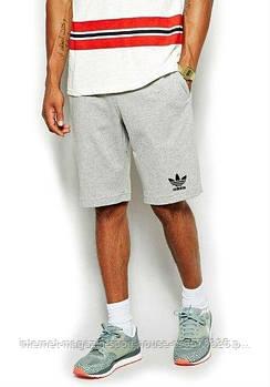 Мужские летние спортивные шорты Адидас (Adidas), отличного качества, реплика серые
