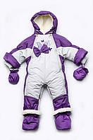 Детский зимний комбинезон-трансформер на меху для девочки, фото 1