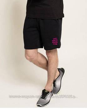 Мужские летние спортивные шорты Анти Социал (Anti social social club), отличного качества, реплика черные