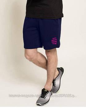 Мужские летние спортивные шорты Анти Социал (Anti social social club), отличного качества, реплика синие