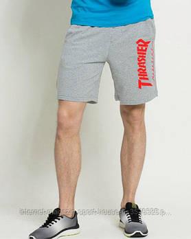 Чоловічі шорти Thrasher, чоловічі шорти Трашер, спортивні шорти, брендові шорти чоловічі сірі