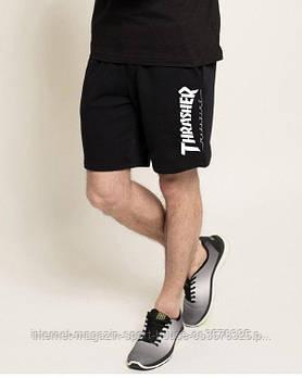 Чоловічі шорти Thrasher, чоловічі шорти Трашер, спортивні шорти, брендові шорти чоловічі, чорні
